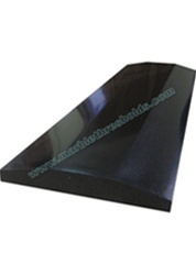 "Absolute Black Polished Granite Threshold 4""x36""x5/8"" - Double Hollywood Handicap Bevel"