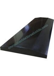 "Absolute Black Polished Granite Threshold 6""x36""x5/8"" - Double Hollywood Bevel"