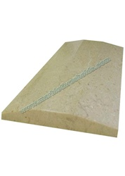 "Crema Polished Marble Threshold 4""x36""x5/8"" - Double Hollywood Bevel"
