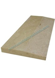 "Crema Polished Marble Threshold 6""x36""x5/8"" - Single Hollywood Bevel"