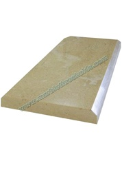 "Crema Polished Marble Threshold 4""x24""x5/8"" - Double Standard Bevel"