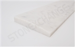 "White Gray Polished Marble Threshold 4""x36""x5/8"" - Single Hollywood Bevel"
