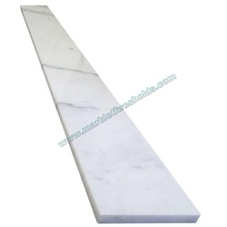 "White Gray Polished Marble Window Sill 3""x36""x5/8"""
